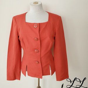 NWT John Meyer Collection Blazer Jacket Orange Red